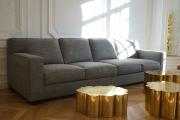 <h5>Canapé type Jean Michel Frank</h5><p>Réalisation d'un canapé sur mesure de type Jean Michel Frank en garnissage semi-traditionnel. Coussins en demi-duvet.</p>