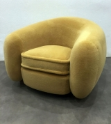 <h5>Fauteuil Ours Polaire </h5><p>Réfection complète d'un fauteuil Ours Polaire de Jean Royère</p>
